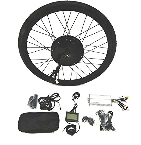 "48V1500W Hub Motor lektro-Fahrrad Umbausatz Electric Bike Conversion Kit + LCD+ Tire Theebikemotor (Rear Wheel, 26"")"
