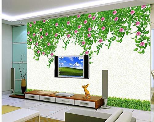 Wolipos 3D Murale Stickers Muraux Papier Peint Nouveau Décor De Télévision Haute Définition Pure M. Green Hd Décoration 300Cmx200Cm