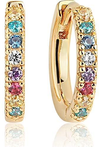 Sif Jakobs Jewellery Ohrringe Creolen Ellera SJ-E2859-XCZ(YG)