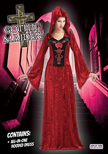 Mittelalterliche Prinzessin, Zauberin, Vampir Gothic, Burgfräulein Damen Kostüm Gr. M/L - 2