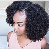 Rosennie Damen Lace Front voll perücke Brasilianisches Lockige Schwarz Explosive Kopf Frauen Perücken hitzebeständig synthetische lockige Afro Perücke Fashion natürliche Haar Perücken (Schwarz)