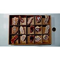 Preisvergleich für Achat, Achatdrusen, SET! 15 Stück,320g, oft mit glänzenden Kristallanteilen, POLIERT und glänzend.