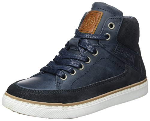 Bullboxer Jungen AGM517E6L High Top Sneakers, Blau (Blue), 38 EU (High Top Sneaker Stiefel)