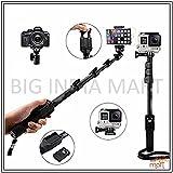Big India Mart YT-1288 Bluetooth Selfie Stick for Smartphones, Action Camera and Digital Camera - Black