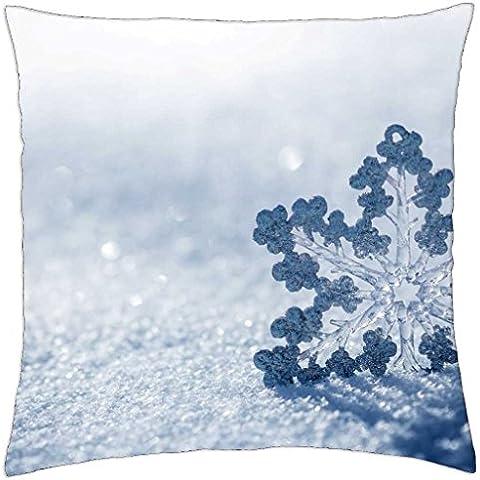 Snow Flake - Throw Pillow Cover Case (18