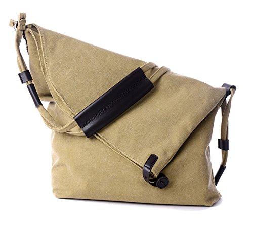 Tibes bandoulière en toile sac vintage messager sac à main Beige