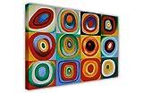 Farbstudie quadrate by Wassily Kandinsky Masterpiece Canvas Wall Art Quadri Stampe Foto Decorazione della Stanza Classica e Pittura a Olio Ristampa