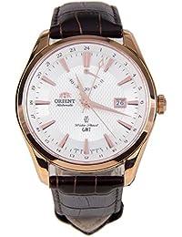 """Orient """"Polaris GMT"""" oro rosa Potencia reserva Sapphire reloj dj05001W"""