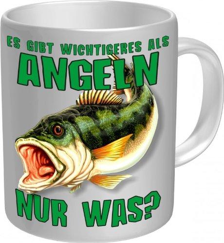 Männer! - Angler Tasse - Fisch am Haken - Fun Kaffeetasse - einzeln im Geschenk Karton - zum Geburtstag ()