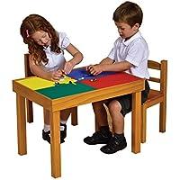 LibertyHouseToys 050 Mehrzweck Schreibtisch und Stuhl mit Magnettafel, Plastik, rot/weiß, 77 x 44 x 85 cm preisvergleich bei kinderzimmerdekopreise.eu