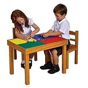 Liberty House Toys Juego de Mesa y sillas de Juguete de Madera, Dion