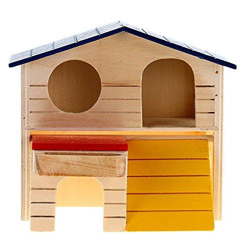 Facilla Kleintierhaus, aus Holz, 2 Etagen, für Ratte/Hamster/Maus