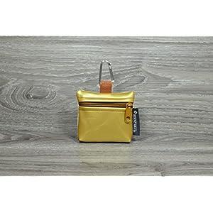 Edelzosse Mini-Gassibeutel &Leckerlitasche Gold Kunstleder