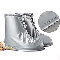 Waterproof Rain Shoe Cover Slip Can Be Reused (M:26.5cm (Sole Length) UK:8)