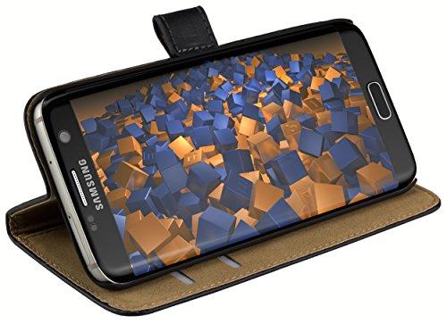 mumbi Ledertasche im Bookstyle für Samsung Galaxy S7 Edge Tasche