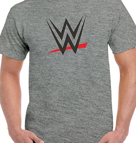 Ecosoul WWE Mens Cotton Half Sleeve Printed Round Neck T Shirt Grey L  available at amazon for Rs.399