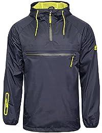 SoulStar Men's Lightweight Shower Proof Pullover Hooded Jacket Coat Size