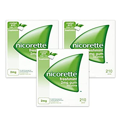 Nicorette Freshmint Gum 2mg 210 Pieces 3pack (3 x 210's) from McNeil