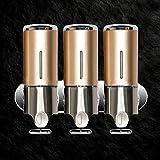 zantec Seife und Dusche Spender Wandmontage 3Kammer Seifenspender-pumpe Shampoo Klimaanlage Halter Badezimmer Dusche Werkzeug