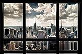 Artland Poster + Ein Ü-Poster Unbekannter Künstler New York Fensterblick Landschaften Fensterblick Fotografie Bunt 61 x 91,5 x 0,1 cm B7AU