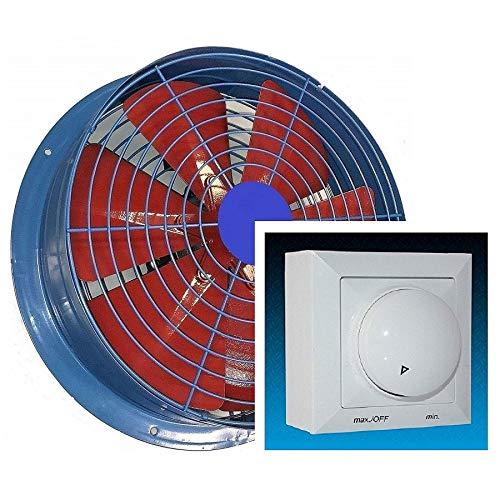 600mm Ventilador industrial con 500W REGULADOR de Velocidad Ventilación Metal Extractor Ventiladores...