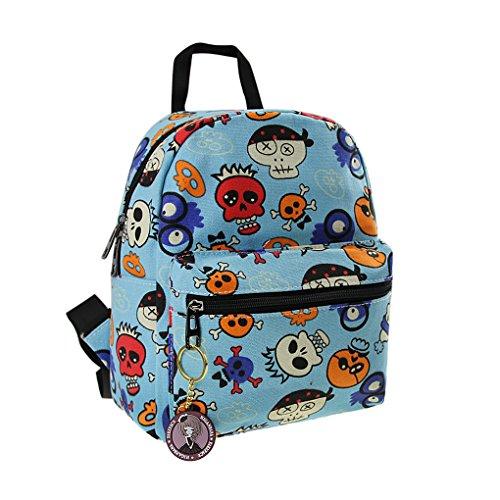 Sac à Dos En Toile Cartable Cartoon Sac d'Elevés 3-12 Ans Canevas Enfant Backpack Scolaire Loisirs Pour Enfant Primaire Maternelle Fille Garçon Unisexe - Bleu