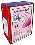 Bio Aroniasaft 3l Box, ! Neue Ernte 2017 ! Original von Aronia Kühnert, 3 Liter Direktsaft, 100% Muttersaft aus vollreifen Beeren