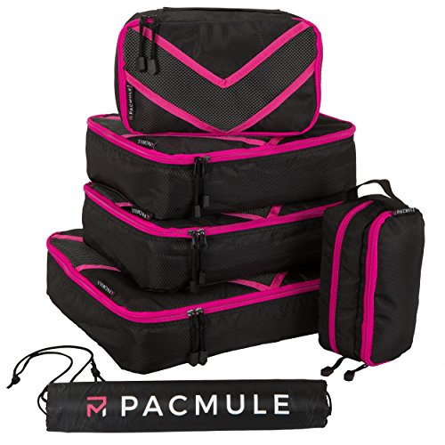 Packset |Koffer Organizer | Kleidertaschen | Packwürfel | Travel Cube | Koffertaschen – für einen perfekt gepackten Koffer, 6er Set mit...