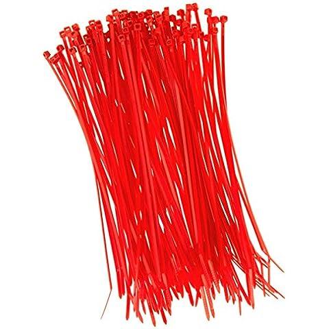 100pieza presilla 200mmx2,5mm para red Protección Apertura Valla en rojo