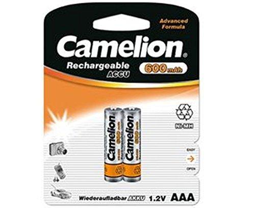 2 x Akku Batterie Camelion AAA 600mAh für Festnetz Telefon Siemens Gigaset SX550i , S67H , SX810 ISDN , A220 , AS285 , A510 Duo , S810 ,455X , CX610 ISDN , S79H C300 , A285 , S810H , A420 , C100 , SX440 ISDN , SX810 A , E500A , SX445 ISDN , C150 , A600 , 450X , C385 Duo , C610H , C595 , C610 , C300A Duo , C59H , A400 , C590 , Panasonic KX-PRW110 , KX-TG8561 , KX-TG6522 , KX-PRS110 , KX-TG6721 , Telekom T-Sinus 502 Dect , A205 , 501i , 300i , 103 , A404 , CA34 , A503i , Philips CD2901 , SD4911 , AVM FritzFon C3