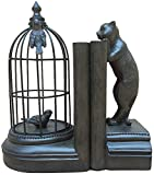 Di buona qualità Birdcage Statua Deco lettura telaio in resina Bookends libri regolabili libro si distingue titolare di file Stehsammler Crafts Cat scultura libro leggio stare regalo storage desktop