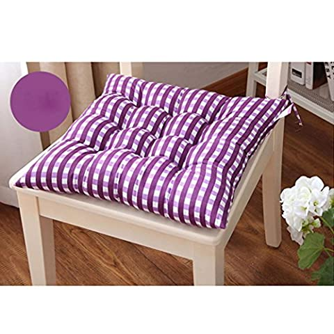 Kingko® Fashion New Candy Color Seat Pad Dining Room Garden Kitchen Office Chair Cushions (Purple)