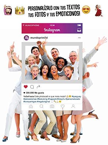 tobooth Personalisierte Stil Instagram 70 x 100 cm. Pappe 4 mm. (Photocall Halloween)