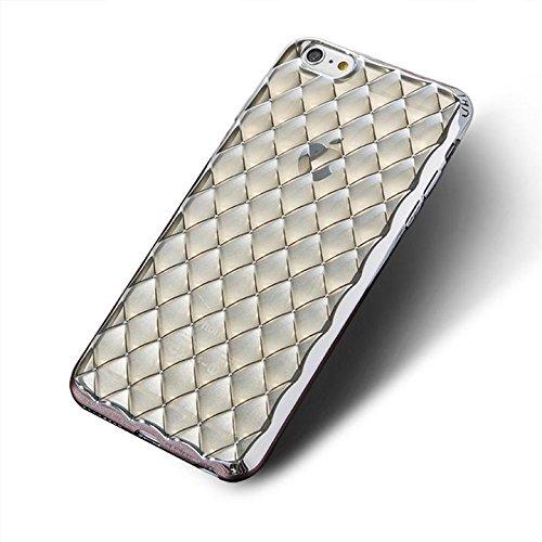 CORST 3D TPU Protettivo Skin Custodia Protettiva Shell Case Cover per iPhone 6Plus/6S Plus(Oro) Argento