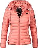 Marikoo Damen Übergangs-Jacke Steppjacke EIN Und Alles (vegan hergestellt) Coral Gr. XL