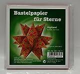 Bastelpapier für weihnachtliche Sterne, Model Highland, Sterne basteln, 33 Blatt