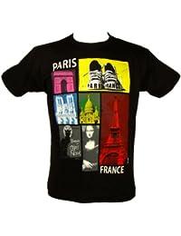 Souvenirs de France - T-Shirt Homme Paris - Couleur : Noir