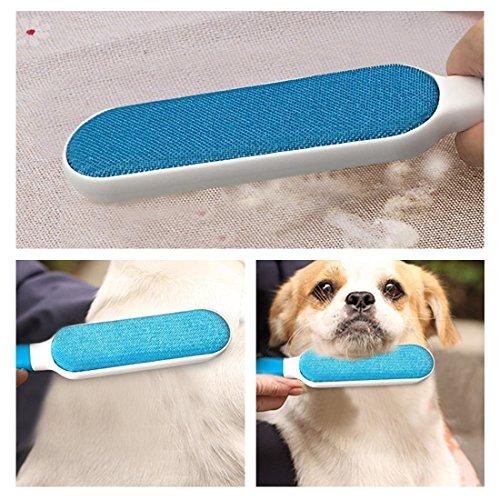 Pet Pinsel, Fell & Fusseln Haarentferner Roller mit selbstreinigendem entfernen Hund Cat Hair (blau) - 4