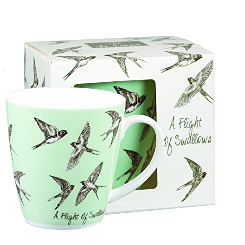 Queens The in Crowd Cherry Tasse Schwalben 360 ml Geschenk-Box, Fine Bone China, Mehrfarbig, 8,9 x 8,9 x 9,5 cm Bone China-box
