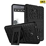 #6: Taslar® Hybrid Armor Design with Stand Feature Detachable Dual Layer Protective Shell Hard Back Cover Case For Samsung Galaxy Tab A 7.0 Tablet (T280, T285),(Black)