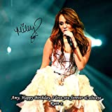 Miley Cyrus 2 Personalised Gift Print Mouse Mat Autograph Computer Rest Mouse Mat Compatible with Laser and Optical Mice (No Personalised Message)