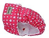 Hund Windeln für läufige Hündin | Windelhose für Hunde, Medium, Bundweite 38,5-44,5 cm | Starry Pink