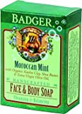 Badger Moroccan Mint Face & Body Soap