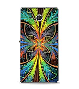 PrintVisa Colourful Flower Wallpaper High Glossy Metal Designer Back Case Cover for Sony Xperia XP