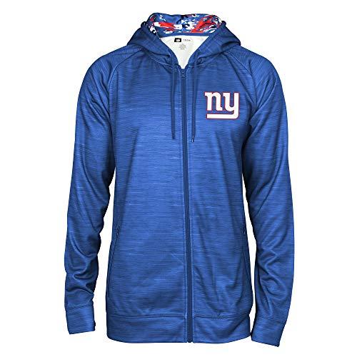 Zubaz NFL Male Kapuzenpullover mit durchgehendem Reißverschluss, Camouflagemuster, Herren, NFL Full Zip Camo Space Dye Hoodie, blau, X-Large - X-large Blau Camo