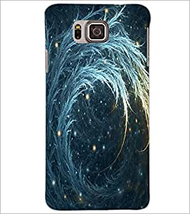 PrintDhaba Bautiful Deign D-1144 Back Case Cover for SAMSUNG GALAXY ALPHA (Multi-Coloured)