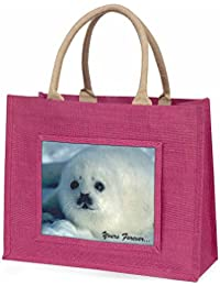 Snow Seal 'Yours Forever' Large Pink Shopping Bag Christmas Present Idea