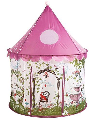 Shyonda niñas Princesa de Hadas del Castillo del Cuento de la Tienda del Juego w / Rosa de la Pradera de diseño Plegable para el Caso de Uso Interior y Exterior w / Cremallera de Almacenamiento