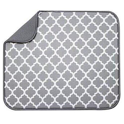 Abtropfmatte aus Mikrofaser, schnelltrocknend, für Küche, Geschirr, Abtropfmatte, saugfähige Abtropfmatte für Küche, Tisch-Zubehör, 40 x 30 cm