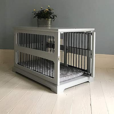 Grey Wooden Dog Crate/Cage with Slide Aside Door from Lords and Labradors